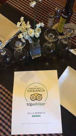 Cretas, Испания: Muchas gracias por el certificado de excelencia