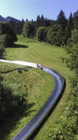 Nesselwang, Germany: Bobsleigh track.