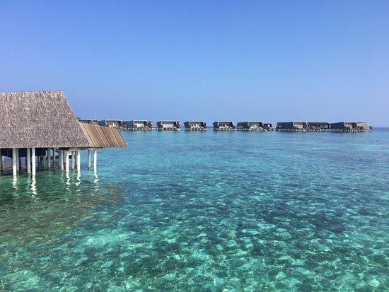 Dhaalu Atoll: Walking toward the villa