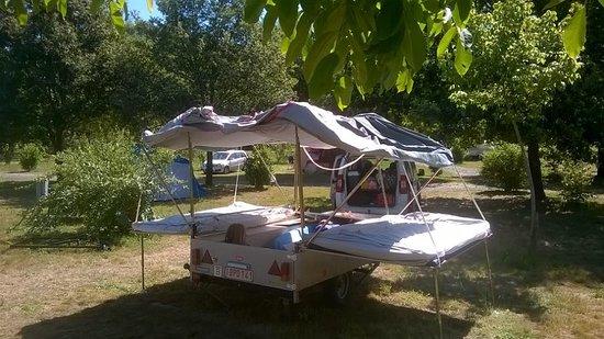 Toffe kleinschalige camping met héél ruime plaatsen