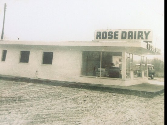Cheshire, CT: Here is a shot of Rose Dairy being built in 1950!  Cotton Candy was the choice of the night!