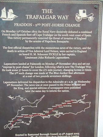 Fraddon, UK: Trafalgar Way Commemorative Plaque