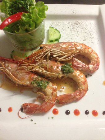 Aujargues, France : gambas