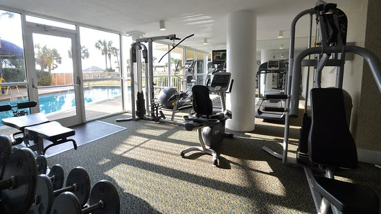 Resorts of Pelican Beach: Pelican Beach Resort fitness center located in Conference Center Lobby.