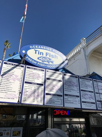 Tin fish oceanside restaurant reviews phone number for Tin fish restaurant