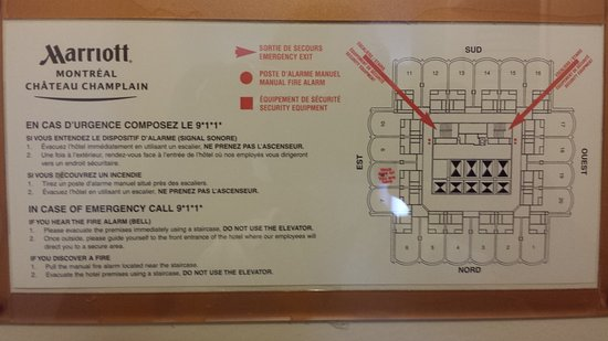 Montreal Marriott Chateau Champlain: Floor Plan