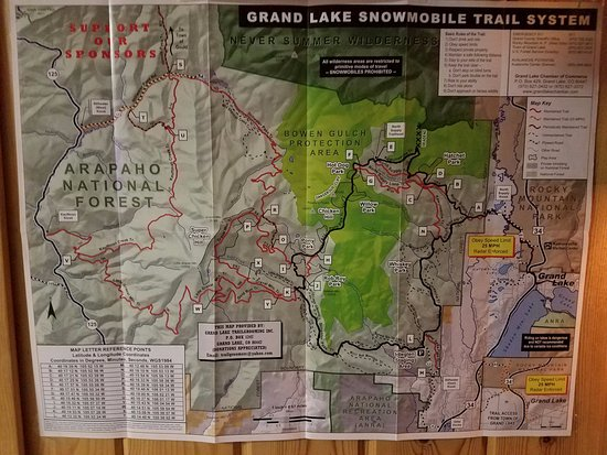 Grand Lake, Kolorado: over 130 miles of trail to ride from your front door of your hotel room
