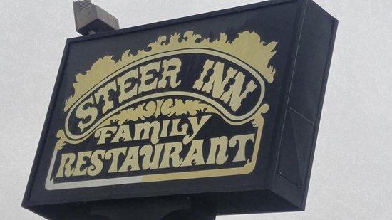 Mannford, OK: Steer Inn from the parking lot