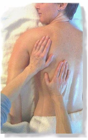 Sechelt, Canada: Soothing back massage.