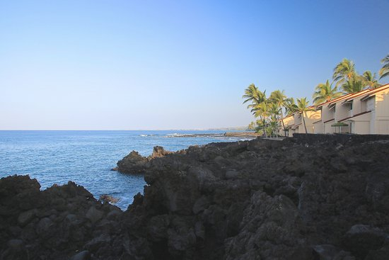 Keauhou Kona Surf & Racquet Club: view from property just in front of our lanai