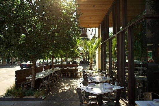 The Outdoor Patio Of La Condesa In Austin, TX.