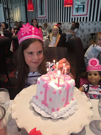 Happy birthday cake - Picture of American Girl Place New York Cafe ...