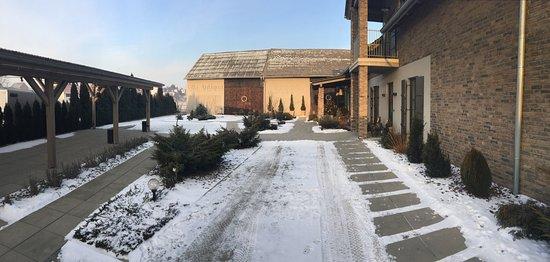 Raciborz, Polonya: Villa w zimowej szacie