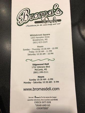 McComb, MS: Broma's Deli