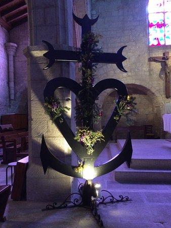 Aigues-Mortes, France: Intérieur de l'église (détail)