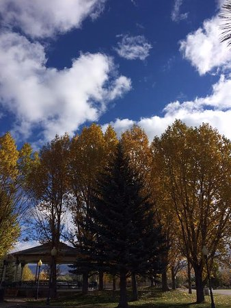 Saratoga, WY: Cottonwoods in full color, October. Want to have your event at the Pavilion? Call us for details