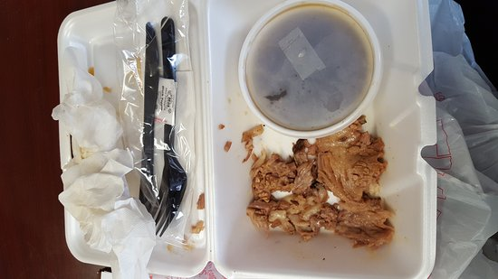 Ridgeland, MS: The leftover fat from my French dip...What a let down