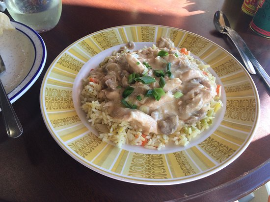 Fortuna, Kalifornien: Chicken and rice special of the day