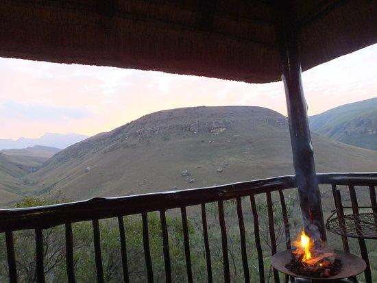 uKhahlamba-Drakensberg Park, Sudáfrica: Ausblick vom Zimmer