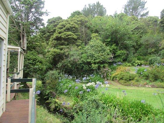 Dargaville, New Zealand: Le jardin, sur le coté de la maison