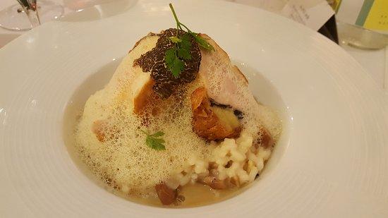 Supreme de voaille fermi re truff risotto carnaroli aux for Au petit jardin uzes