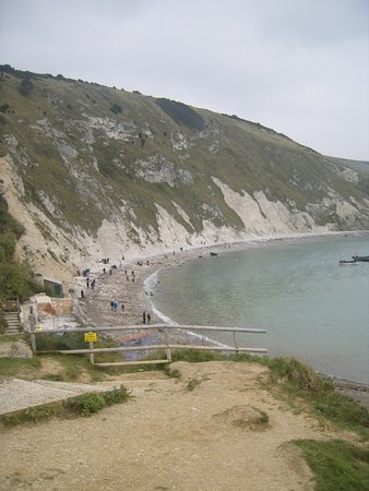 West Lulworth, UK: 185 million years of geological history are on display at Dorset's famous Lulworth Cove