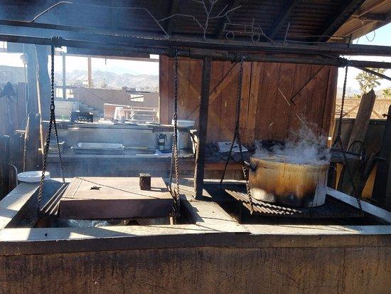 Pioneertown, CA: Chili in the pot
