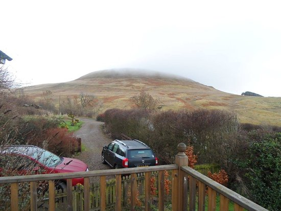Otterburn, UK: View out from the balcony at Rowan Cottage