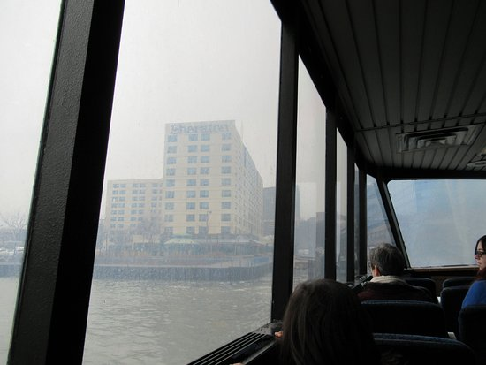 Sheraton Lincoln Harbor Hotel: From the Ferry (Sorry about the weather!)