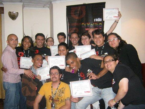 هوتل سان فرانسيسكو: Formación con PNUD y RadioDiversia