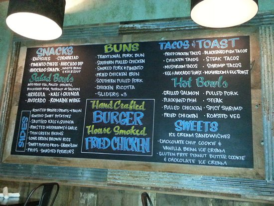 Chow Daddy's Menu board