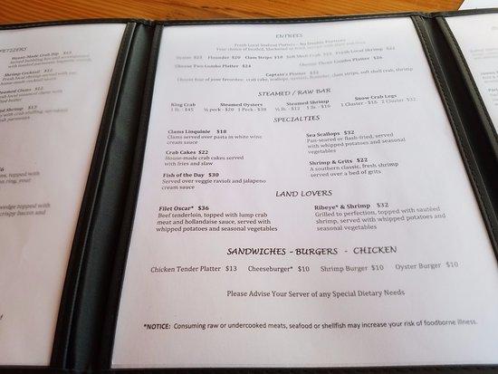 Morehead City, NC: menu