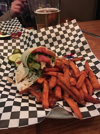 Ashland, MA: Sweet chili chicken wrap