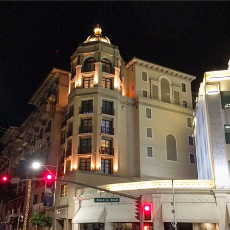 The luxury Montage Hotel and Residences, one block east of Rodeo Drive in Beverly Hills.