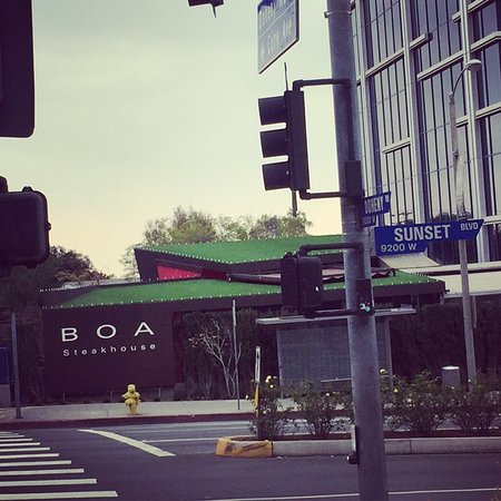BOA Steakhouse along the Sunset Strip in West Hollywood and Beverly Hills.