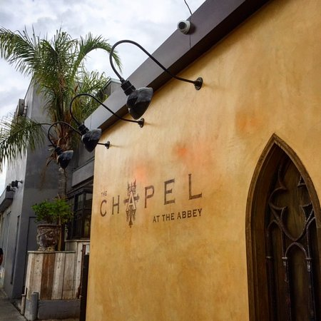 Beverly Hills, Californien: Chapel at the Abbey, next to Lisa Vanderpump's PUMP Restaurant in West Hollywood.