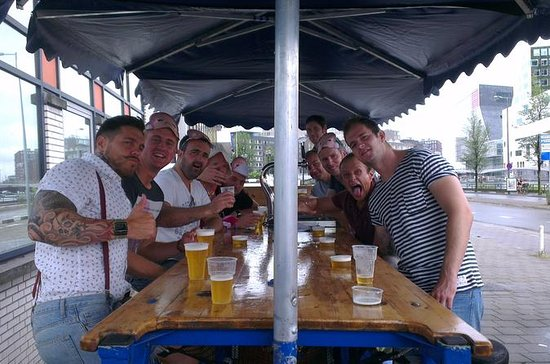 Guided Beer Bike Sightseeing Tour in