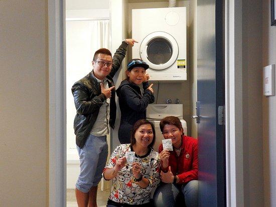 Quest Dunedin : Washing machine & Drying inside the bathroom