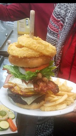 "Gretna, LA: ""Big Joe Double Trouble Burger "" consider it as a CHALLENGE!"