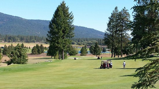 Blanchard, ID: One of the golf holes on property