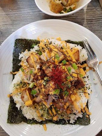 sriracha pork belly rice bowl - Picture of Da Kitchen, Kahului ...