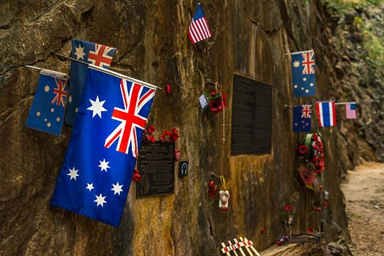 Flags in Hellfire Pass. - Picture of Hellfire Pass ...