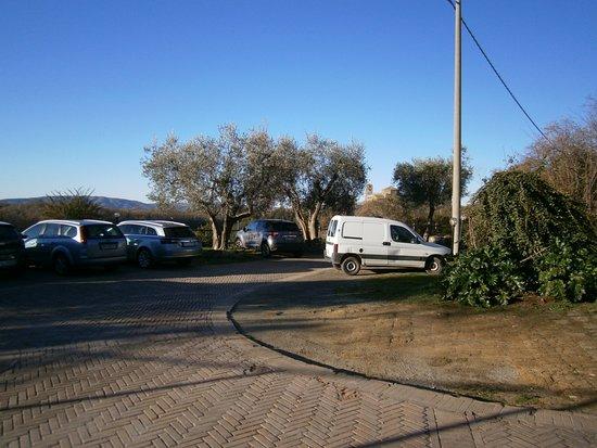 Sorano, Italy: Il parcheggio