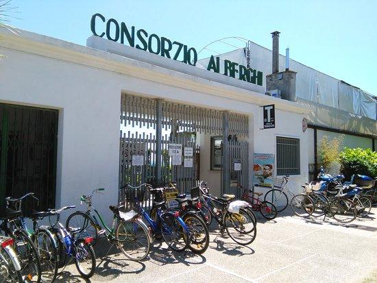 Lido di Venezia, Italy: ビーチの入り口