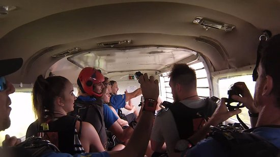 Mission Beach, Australia: On the plane before the jump