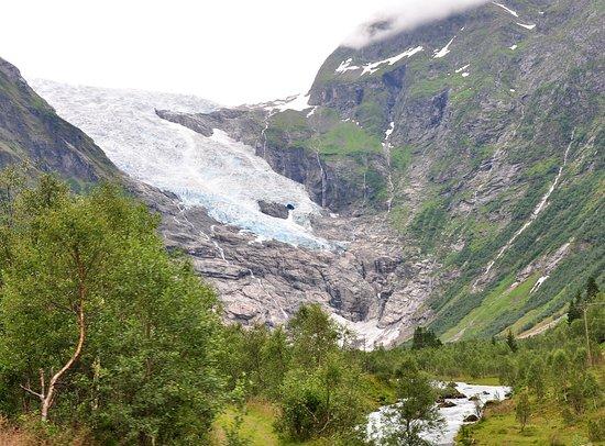 Fjaerland, Norge: Фото сделано прямо с трассы номер 5