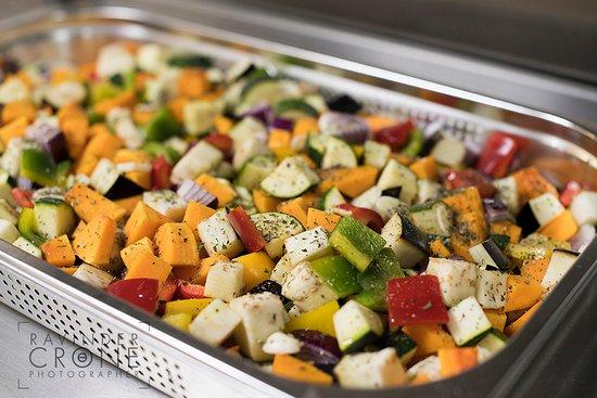 Leighton Buzzard, UK: Preparing our Roasted Vegetables
