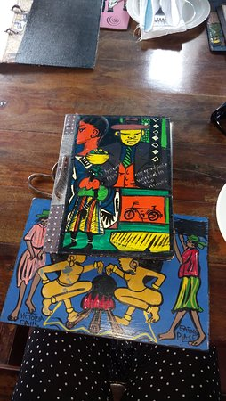 Mama Africa Eating House: colourful menu