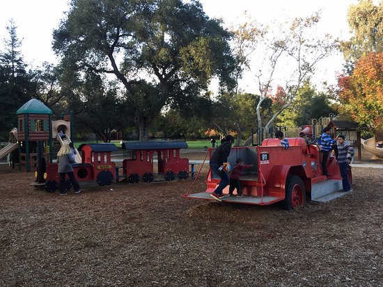Los Gatos, CA: a view of playground