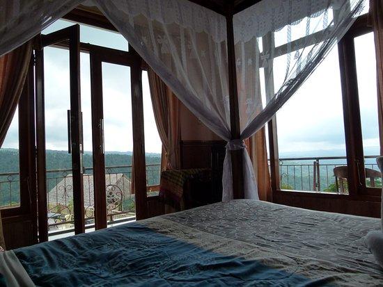 Munduk, Indonesien: Vue de notre chambre directement sur le panorama !